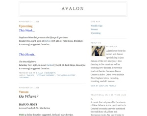 Avalon - Traditional Jazz in NYC